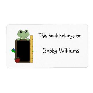 Este libro pertenece a: - La rana/personaliza Etiquetas De Envío