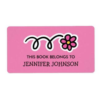 Este libro pertenece a las etiquetas rosadas del etiqueta de envío