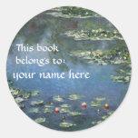 Este libro pertenece… a los Bookplates de la bella Etiqueta Redonda