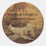 Este libro pertenece… a los Bookplates de la bella Etiqueta