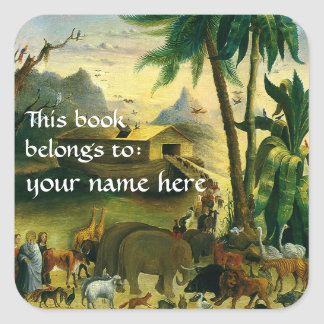 Este libro pertenece… a los Bookplates de la bella Pegatina Cuadrada