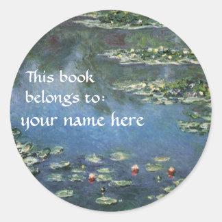 Este libro pertenece… a los Bookplates de la bella Pegatina Redonda