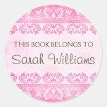 Este libro pertenece a los pegatinas, damasco rosa