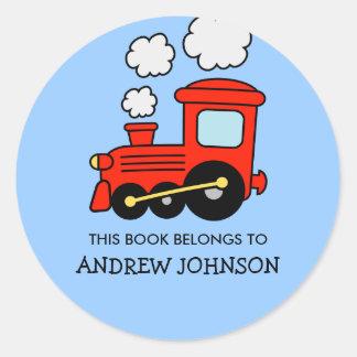 Este libro pertenece a los pegatinas del bookplate pegatina redonda