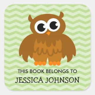 Este libro pertenece a los pegatinas lindos del pegatina cuadrada