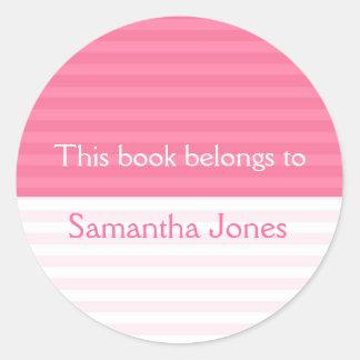 Este libro pertenece a los pegatinas Rayas rosad