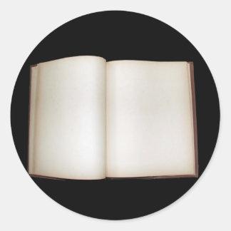 Este libro pertenece a pegatina redonda