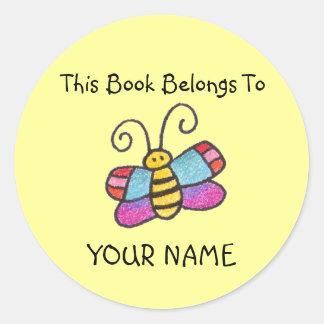 ¡Este libro pertenece a usted! Pegatina Redonda