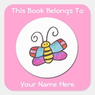 ¡Este libro pertenece - al pegatina de la