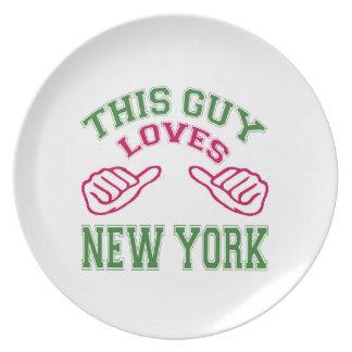 Este los individuos aman Nueva York Platos Para Fiestas