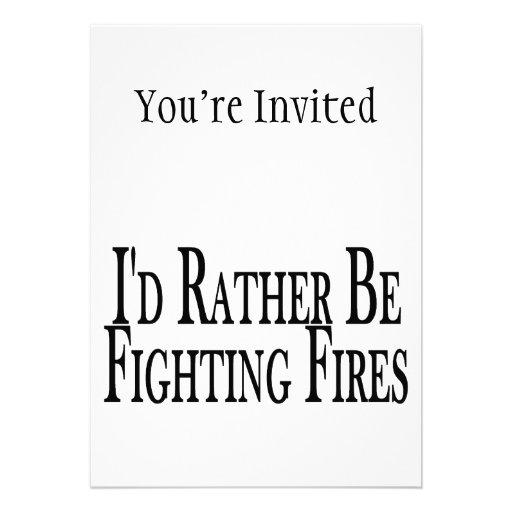 Esté luchando bastante los fuegos invitaciones personalizada