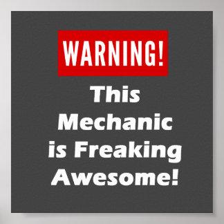 ¡Este mecánico es el Freaking impresionante! Póster