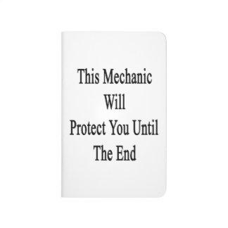 Este mecánico le protegerá hasta el extremo cuadernos grapados