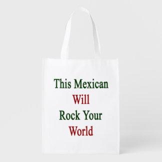 Este mexicano oscilará su mundo bolsas reutilizables
