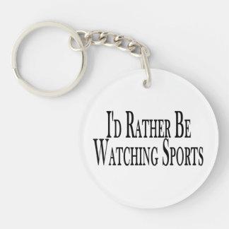 Esté mirando bastante deportes llavero redondo acrílico a doble cara
