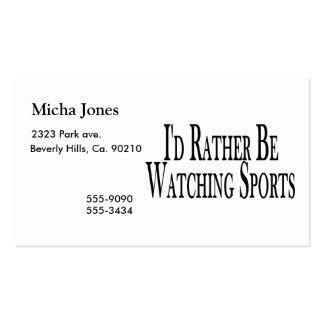 Esté mirando bastante deportes tarjeta de visita
