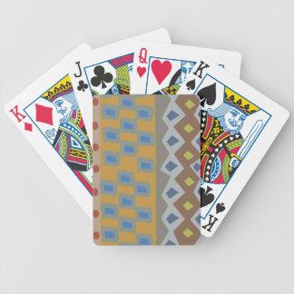 Este mitón se adorna con un diseño abstracto baraja cartas de poker