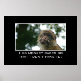 Este mono cuida de modo que no lo haga tuviera que poster