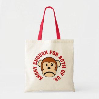 Este mono está bastante enojado para nosotros dos bolsa de mano
