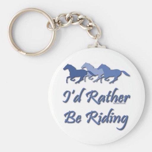 Esté montando bastante - el decir del caballo llaveros