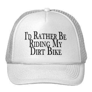 Esté montando bastante mi bici de la suciedad gorras de camionero