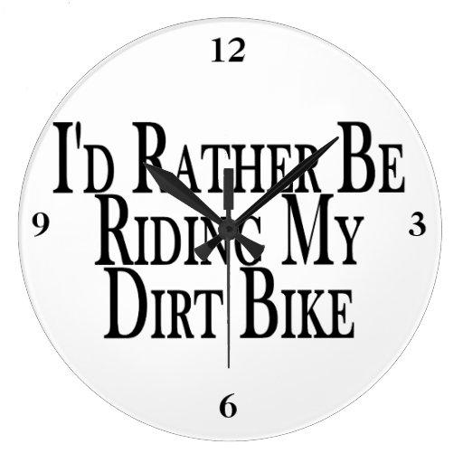 Esté montando bastante mi bici de la suciedad reloj redondo grande