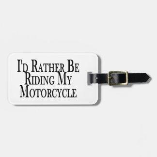 Esté montando bastante mi motocicleta etiquetas bolsa
