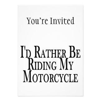 Esté montando bastante mi motocicleta invitación personalizada