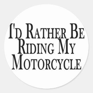 Esté montando bastante mi motocicleta etiquetas redondas