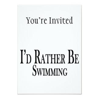 """Esté nadando bastante invitación 5"""" x 7"""""""