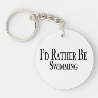 Esté nadando bastante llavero redondo acrílico a doble cara