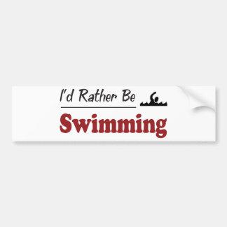 Esté nadando bastante pegatina para auto