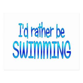 Esté nadando bastante tarjeta postal