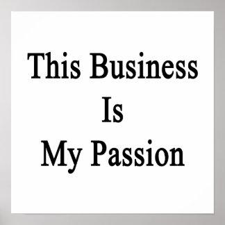 Este negocio es mi pasión póster