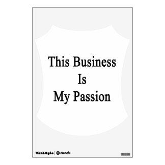 Este negocio es mi pasión vinilo