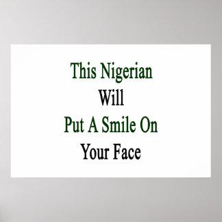Este nigeriano pondrá una sonrisa en su cara póster