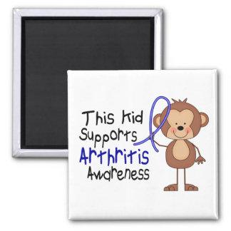 Este niño apoya conciencia de la artritis imán cuadrado