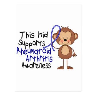 Este niño apoya conciencia de la artritis postal