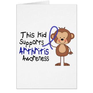Este niño apoya conciencia de la artritis tarjeta de felicitación