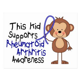 Este niño apoya conciencia de la artritis tarjeta postal