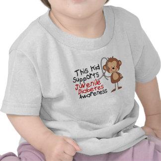 Este niño apoya conciencia de la diabetes juvenil camisetas