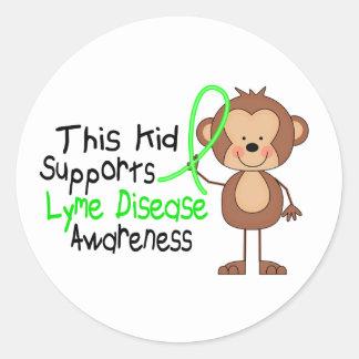 Este niño apoya conciencia de la enfermedad de pegatinas redondas