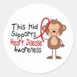 Este niño apoya conciencia de la enfermedad pegatina redonda