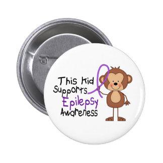 Este niño apoya conciencia de la epilepsia pin redondo de 2 pulgadas