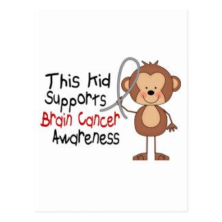 Este niño apoya conciencia del cáncer de cerebro tarjetas postales