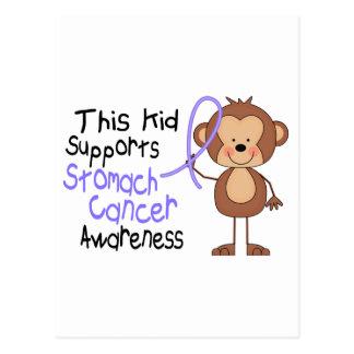 Este niño apoya conciencia del cáncer de estómago tarjeta postal