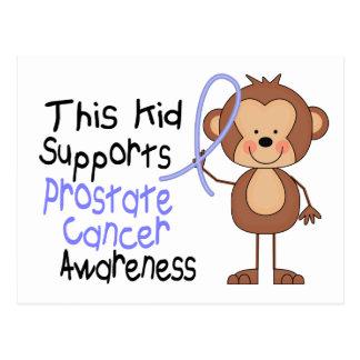 Este niño apoya conciencia del cáncer de próstata tarjeta postal