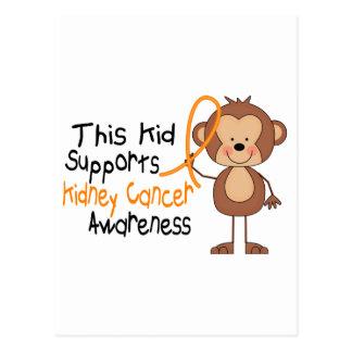 Este niño apoya conciencia del cáncer del riñón postal