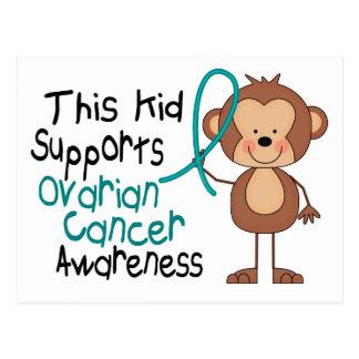 Este niño apoya conciencia del cáncer ovárico postal