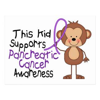 Este niño apoya conciencia del cáncer pancreático postal
